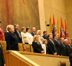 Prezidentė dalyvavo iškilmingame Laisvės gynėjų dienos 22-ųjų metinių minėjime Seime | lrs.lt Dž.G.Barysaitės nuotr.