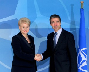 D.Grybauskaitė ir A.F.Rasmunsenas | lrp.lt nuotr.
