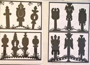 E.Dvarionaitės-Vindašienės karpinių fragmentas