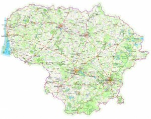 Lietuvos geografinis žemėlapis