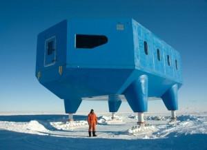 "DB moderni tyrimų stotis ""Halley VI"" | ""Hugh Broughton Architects"" nuotr."