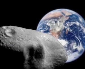 Asteroido 2012 DA14 skrydžio imitacija. NASA pav.