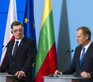 A.Butkevičius ir D.Tuskas | premier.gov.pl nuotr.