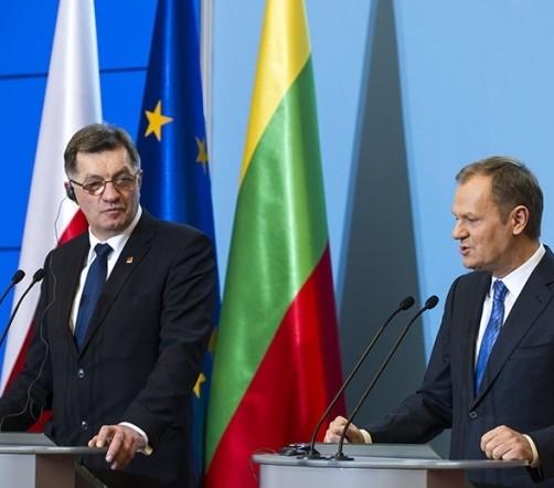 A.Butkevičius ir D.Tuskas   premier.gov.pl nuotr.