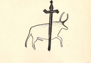 Jautis ir kardas. Autorės piešinys