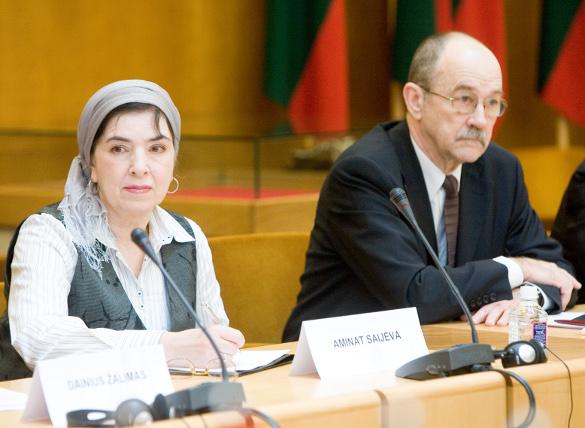Aminat Saijeva ir Romualdas Ozolas | lrs.lt nuotr.