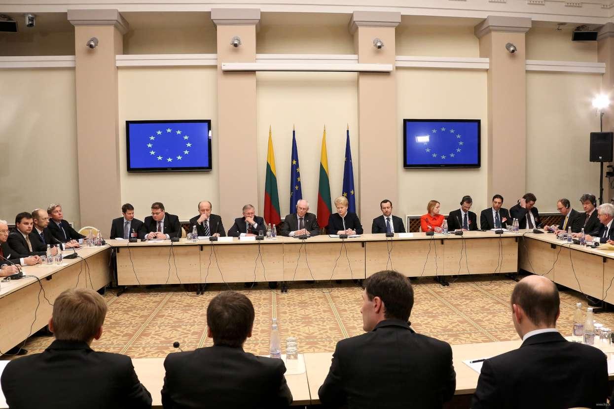 """Lietuvos pirmininkavimui ES Tarybai skirtą diskusiją """"Kokios Europos norime?""""   lrp.lt nuotr."""