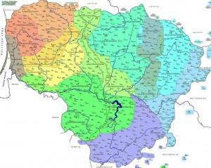 Lietuvos tarmės | tarmes.lt  žemelapis