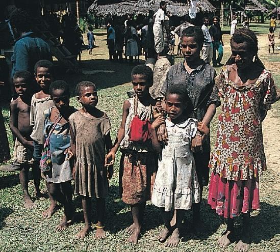 Papua Naujosios Gvinėjos gyventojai | lt.wikipedija.org nuotr.