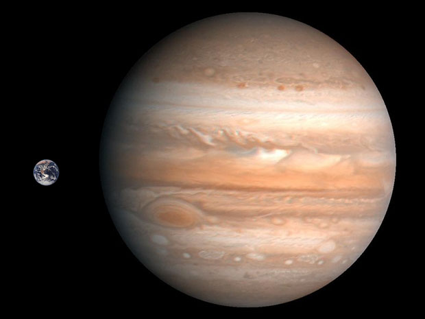 Žemės ir Jupiterio palyginimas | petapixel.com nuotr. © J. Vaiškūno pieš.