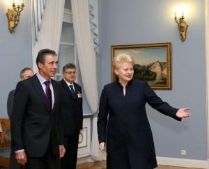 A.F.Rasmusenas ir D.Grybauskaitė | lrp.lt nuotr.