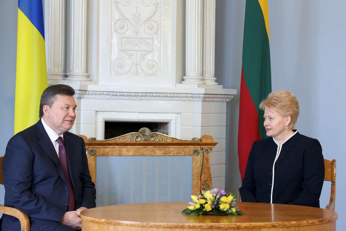 V.Janukovičius ir D.Grybauskaitė | lrp.lt nuotr.