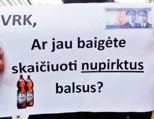 Protestas prie VRK   Alkas.lt, A.Rasakevičiaus nuotr.