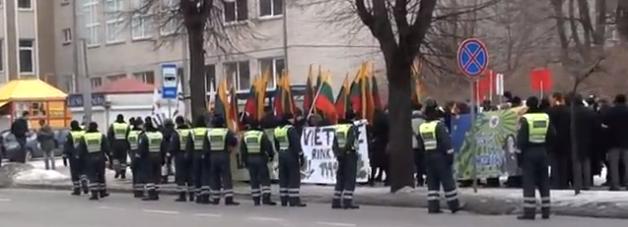 Policija Lietuvos nepriklausomybės atkūrimo 95-ųjų metinių eitynėse Kaune | ekspertai.eu nuotr.