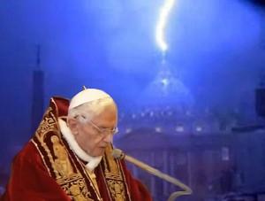 Perkūnas laimina Popiežiaus atsistatydinimą | Alkas.lt nuotr.
