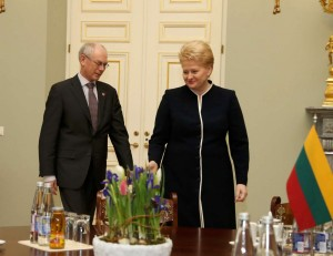 Hermanas Van Rompėjus ir Dalia Grybauskaitė | lrp.lt nuotr.