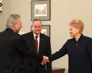 "D.Grybauskaitė susitinka su ""Chevron"" atstovais | lrp.lt nuotr."