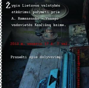 Žygis vasario 16-ąjai paminėti Varėnoje