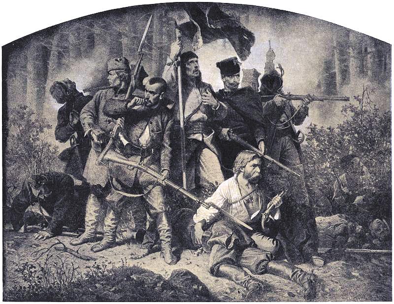 Artūro Grotgero piešinys, 1863 m.
