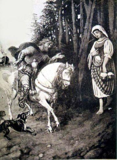 Kauno apskrities viešojoje bibliotekoje saugomas tarpukario Lietuvoje išleistas atvirukas, vaizduojantis Kęstučio susitikimą su Birute.