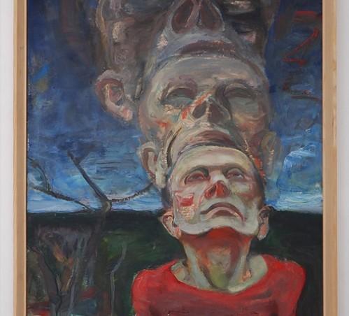 Mindaugas Skudutis. Autoportretas. 1988. (paveikslo fragmentas) Iš Vidmanto Martikonio kolekcijos