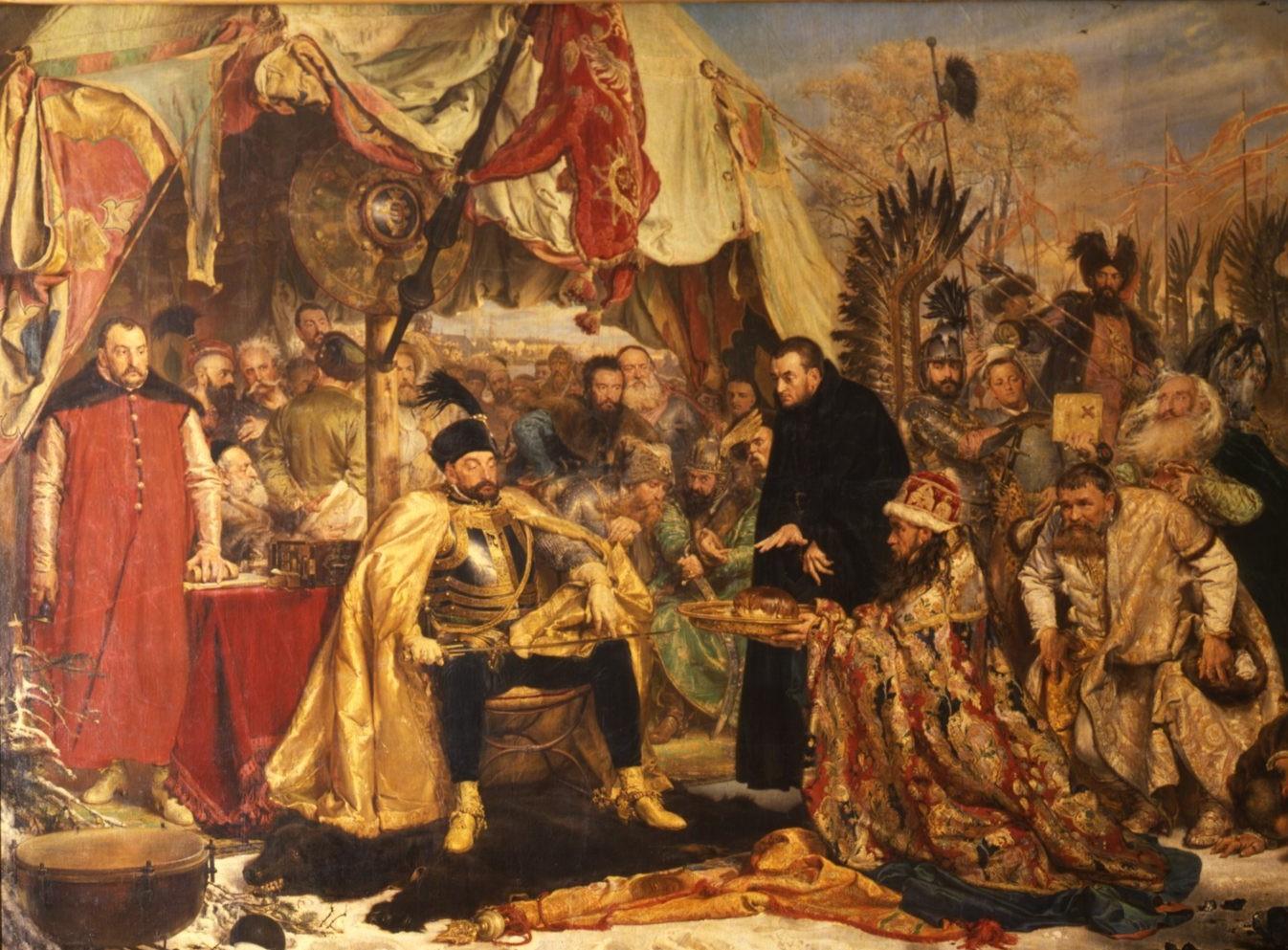 """Jano Mateikos paveikslas """"Steponas Batoras prie Pskovo"""""""