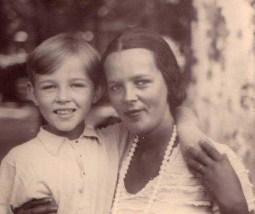 Vera Šernienė su sūnum Žaku. Vichy, Prancūzija, 1930 m | Ž.Šerno asm. nuotr.