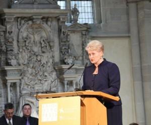 Prezidentė Dalia Grybauskaitė kalba Magdeburgo katedroje | lrp.lt nuotr.