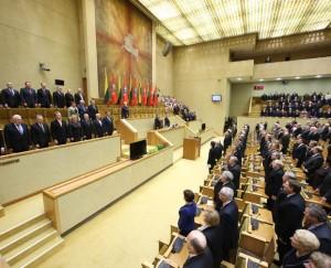 Kovo 11-osios minėjimas Seime | lrs.lt, O.Posaškovos nuotr.