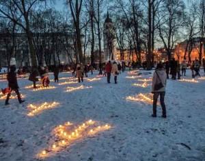 Šventaragio slėnyje įžiebta Pavasario lygiadienio ugnis   A.Sartanavičiaus, Alkas.lt nuotr.