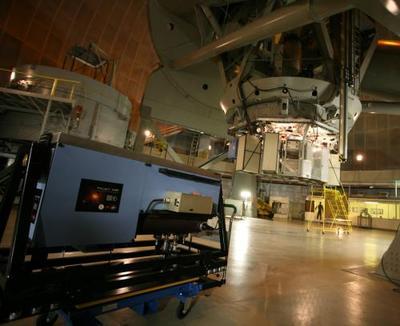 Šiame projekte naudojamas penkių metrų skersmens Palomaro observatorijos teleskopas