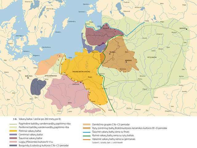 Vakarų baltai / aisčiai po 260 metų (po Kristaus gimimo).