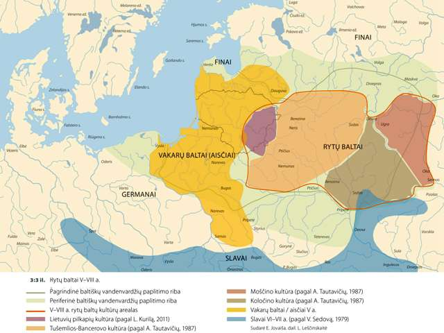 Baltai, germanai, finai ir slavai V–VIII a.