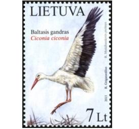 Baltasis gandras pašto ženklas