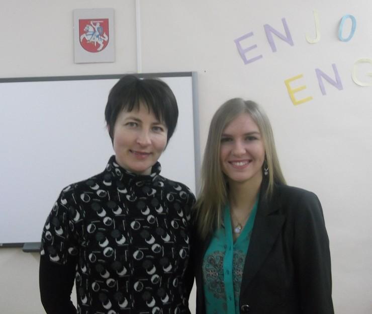 Giedrė Pupšytė su anglų k. mokytoja Danguole Naujokiene | ec.europa.eu nuotr.