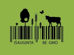 """Vienas iš ženklo """"Be GMO"""" konkursui pateiktų darbų"""