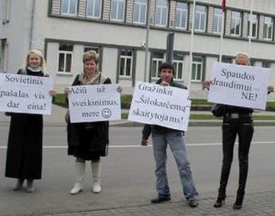 Pagėgiuose 2010 m. kovojama už spaudos laisvę   Skipičio nuotr.