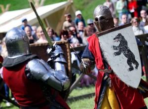 Viduramžių riterių kovojo dėl Lietuvos kariuomenės vado kalavijo | kariuomene.kam.lt, J.Budzeikaitės nuotr.