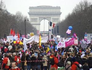 Kovo 23 d. manifestacija Paryžiuje | wikipedia.org nuotr.