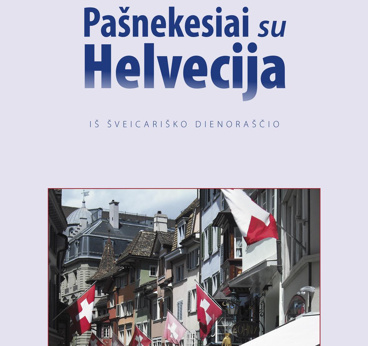 """J.Survilaitės knygos """"Pašnekesiai su Helvecija"""" viršelio dalis"""