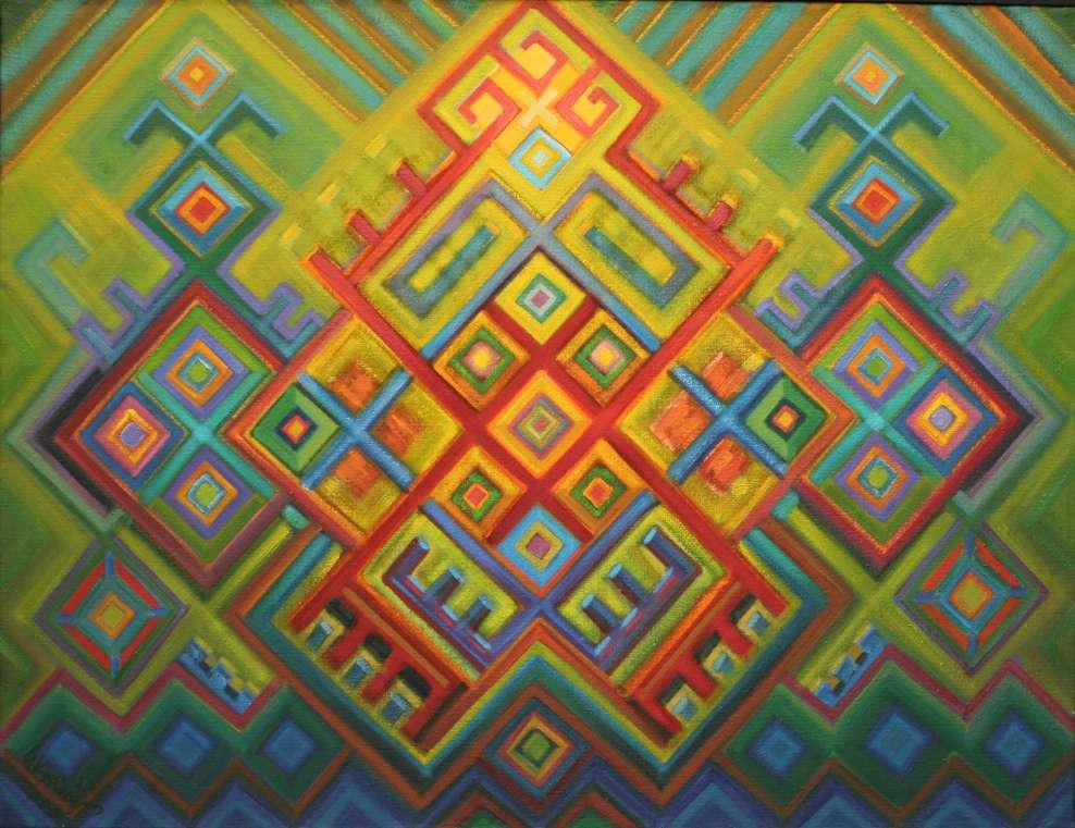 Archainė kompozicija Nr 40. Drobė, aliejus, formatas 89-116cm 1996 V.Kašinskas