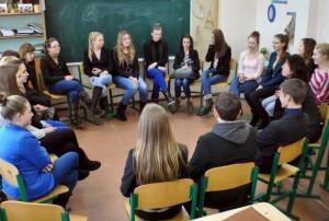 Domeikavos gimnazijos mokinių susitikimas