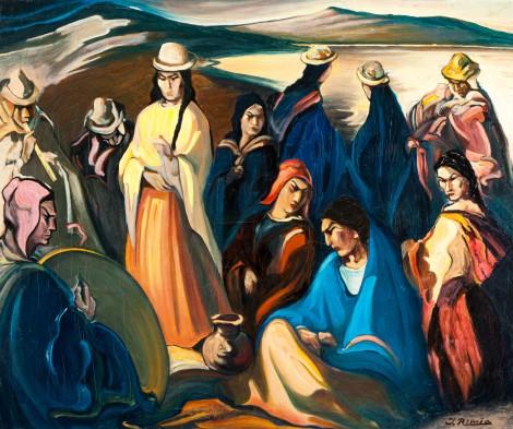 Jonas Rimša, Indėnai prie ežero (1943-1951)