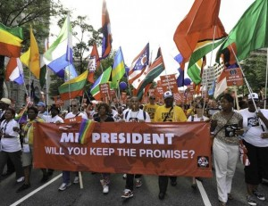 """Kampanija """"Tesėkite pažadą dėl ŽIV ir AIDS"""" prasidėjo pernai (2012 m.) Vašingtone (JAV)"""
