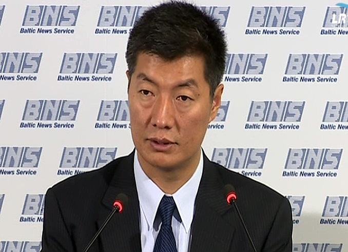 Tibeto vyriausybės tremtyje vadovas dr. Lobsangas Sangay (Lobsang Sangay) | Alkas.t, J.Vaiškūno nuotr.