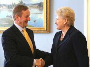 Enda Keni ir Dalia Grybauskaitė   lrp.lt, Dž.Barysaitės nuotr.