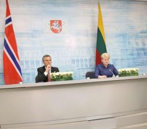 Dalia Grybauskaitė ir Jensas Stoltenbergas | lrp.lt, Dž.G.Barysaitės nuotr.
