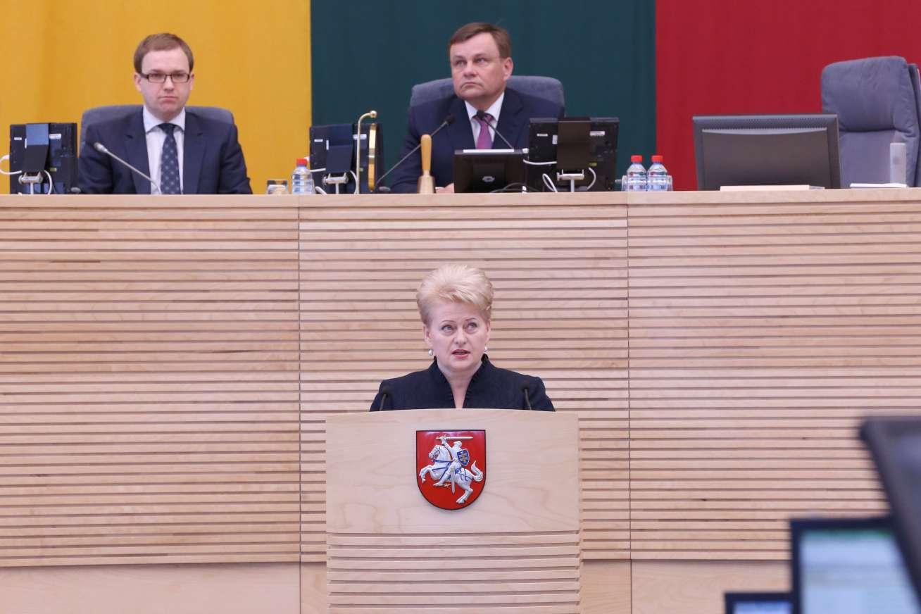 D.Grybauskaitės metinis pranešimas Seime 2013 m. | lrs.lt, O.Posaškovos nuotr.