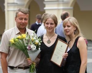 M.Karaliaus ir VU IF Alumni draugijos premija įteikta absolventei A.Terleckaitei  | naujienos.vu.lt nuotr.