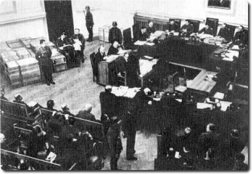 Hitlerininkų organizacijų vadovų ir aktyvistų teismas | LCVA nuotr.